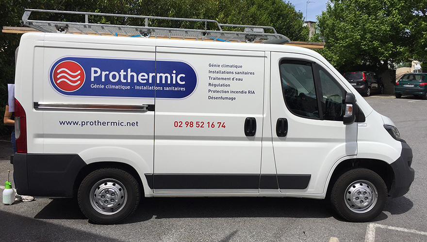 Décoration adhésive flotte Prothermic