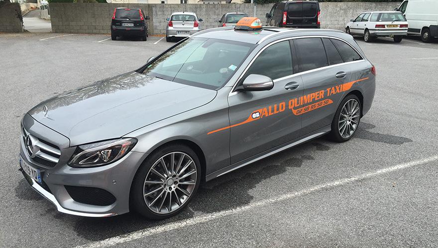Décoration adhésive Mercedes Allo Quimper Taxi