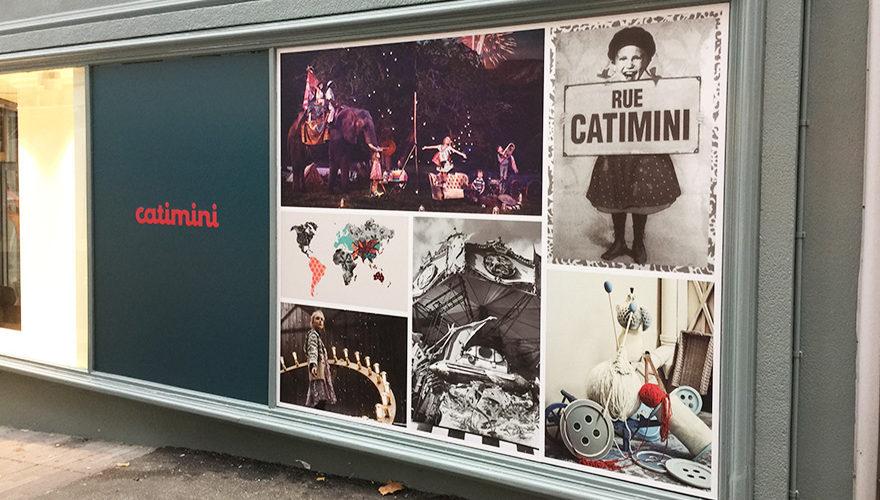 Décoration vitrine impression numérique pour Catimini Brest