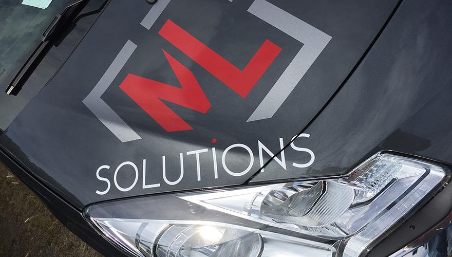 Décoration véhicule Flotte ML Solutions