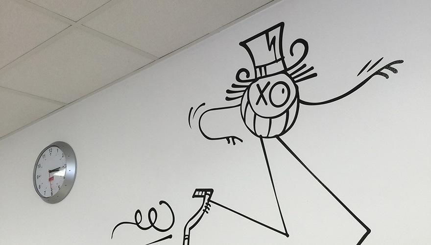 Décoration adhésive murale